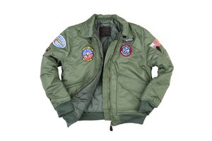 Kinder CWU flight jacket groen