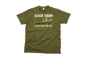 T-shirt Black Hawk Sikorsky SH-60 Zwart / groen