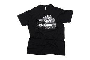 T-shirt Sniper zwart
