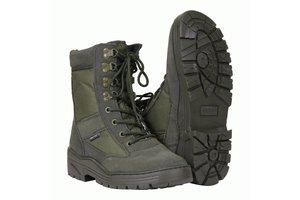 Sniper boots met rits Groen