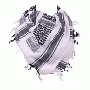 PLO sjaal wit/zwart