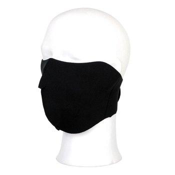 Biker mask half face zwart