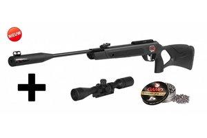 Gamo G Magnum Whisper 1250 IGT 5.5mm incl. 3-9X40 Richtkijker & G-hammer pellets