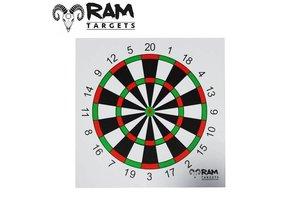 Schietkaart Dartbord 14 x 14 cm  (tijdelijk uitverkocht)