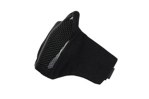 Airsoft face mask nylon/mesh zwart