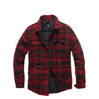 Square padded shirt Red Check