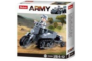 Sluban German Army Half crawler motorcycle M38-B0680B