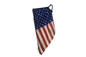 Gezichtsmasker met oorlus USA vintage style 1