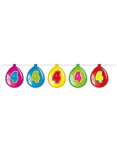 Magicoo Verjaardags slingers  4 jaar