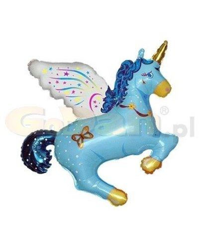 Magicoo Eenhoorn blauwe folieballon  36 cm