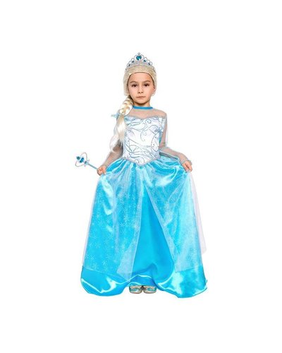 Magicoo Blauwe prinsessenjurk IJskoningin