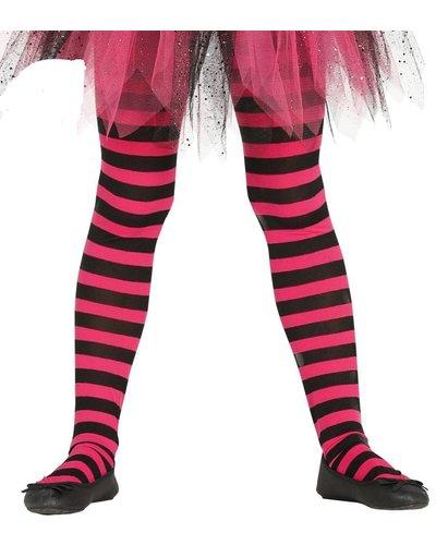 Magicoo Roze pantys  met strepen