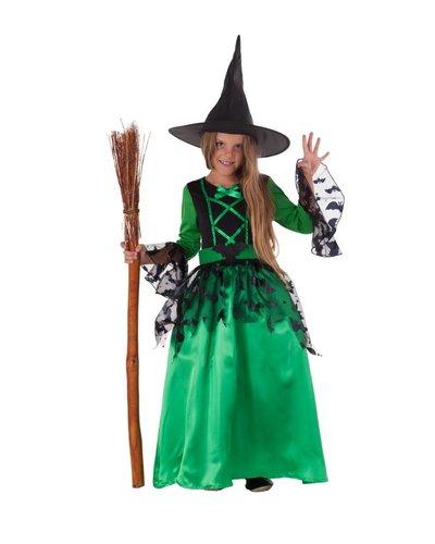 Magicoo Groene heksenjurk meisjes
