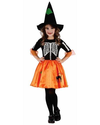 Magicoo Heksenjurk meisjes skelet