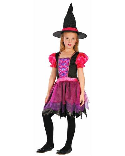 Magicoo Roze heksenjurk meisjes