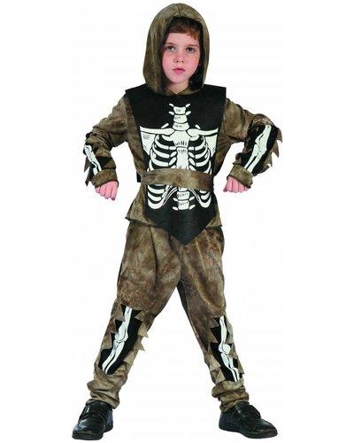 Magicoo Skelet zombie kostuum voor kinderen