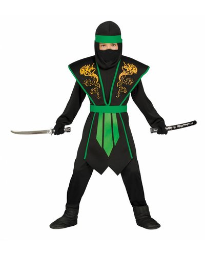 Magicoo Groen Ninja kostuum kind met panser