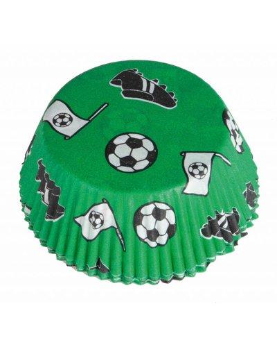 48 bakvormen muffins voor voetbalparty