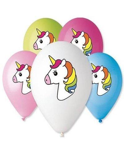 Magicoo 5 bonte eenhoorn ballonnen