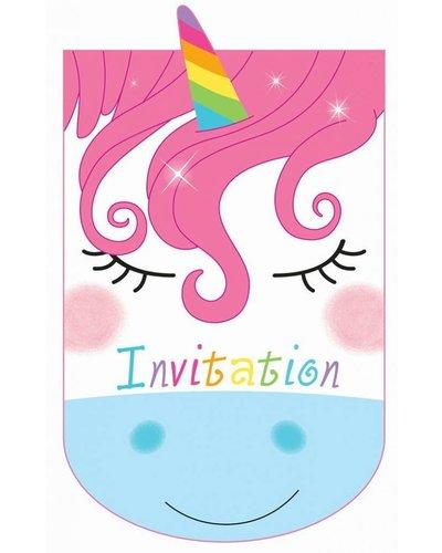 Uitnodigingen unicorn eenhoorn party