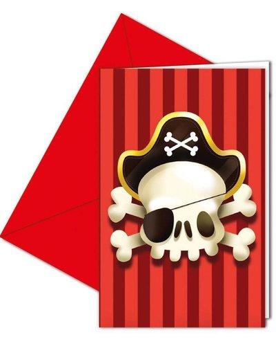 Magicoo 6 uitnodigingskaarten piratenparty