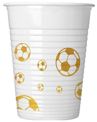 "Magicoo 8 partycups voetbal ""Golden Goal"""