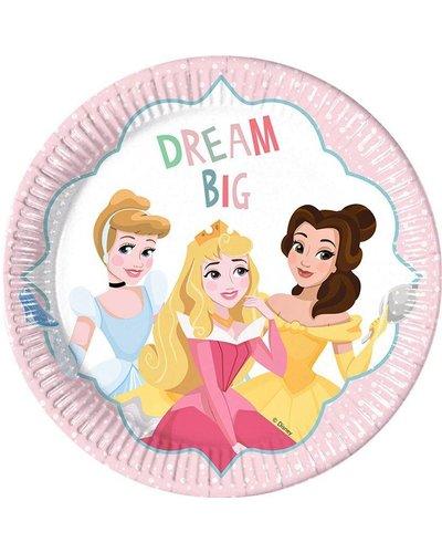 "Magicoo 8 partyborden "" Disney prinsessen"" - 23cm"