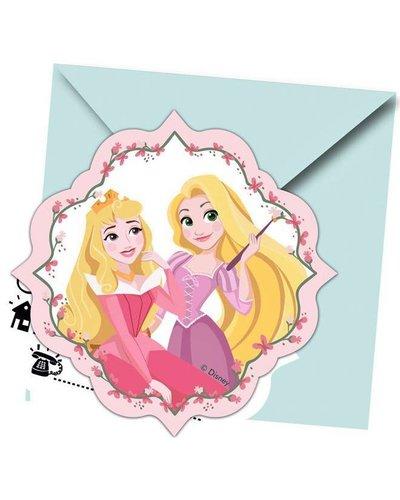 """Magicoo 6 uitnodigingen """" Disney Prinses"""""""