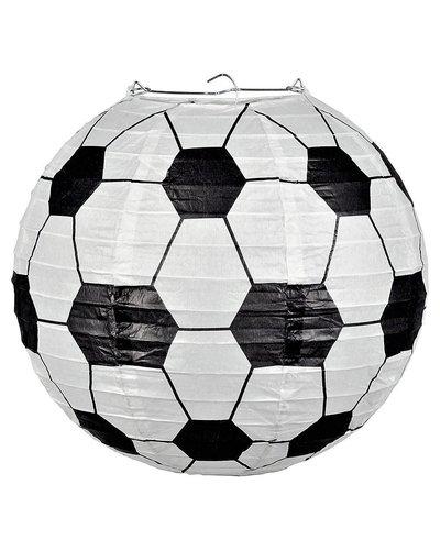 Magicoo Voetbal lantaarn wit-zwart 25 cm