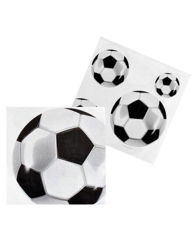 Magicoo Servetten voetbal - 33x33cm