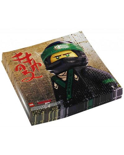 Magicoo Servetten Ninjago Lego - Ninja Kinderparty