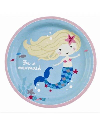 Magicoo 8 partyborden - magische zeemeermin- 23 cm