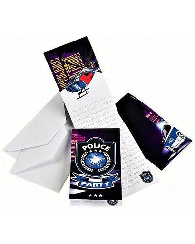 Magicoo 8 uitnodigingskaarten politie feest