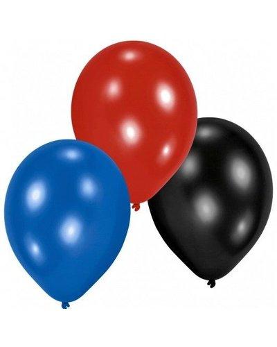 Magicoo 10 bonte ballonnen rood, zwart, blauw