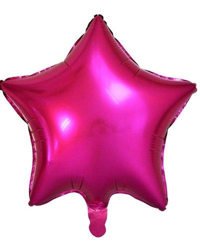 Magicoo Folieballon ster donker roze - 48 cm