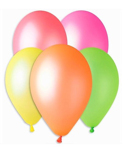 Magicoo 5 ballonnen in neon kleuren
