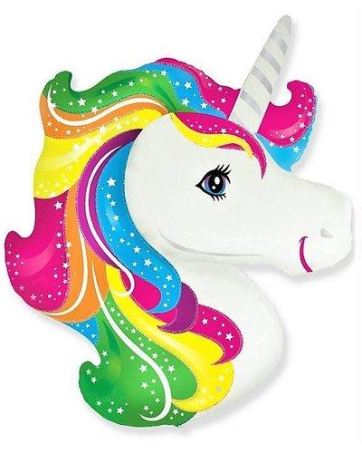 Magicoo Folieballon - regenboog unicorn -  36 cm