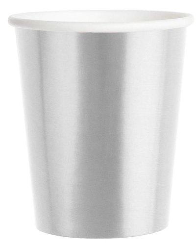 Magicoo 6 zilverkleurige bekers- 250 ml
