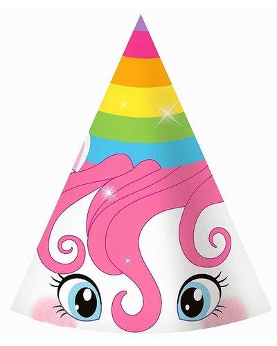 Magicoo 6 eenhoorn unicorn partyhoedjes