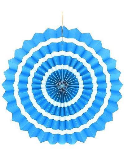 Magicoo papierwaaier blauw-wit - 40 cm