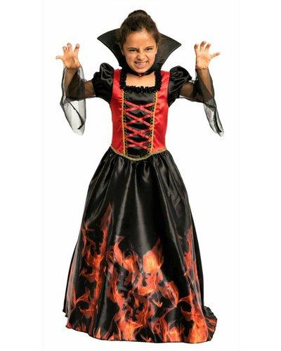 Magicoo Vampierjurk met vlammen voor meisjes