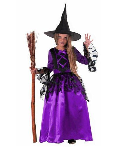 Magicoo lila vleermuis heksenjurk voor meisjes