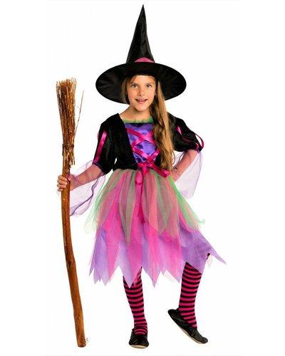 Magicoo Bonte neon heksenjurk voor meisjes