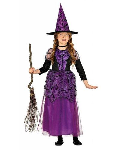 Magicoo Lila heksenjurk voor meisjes