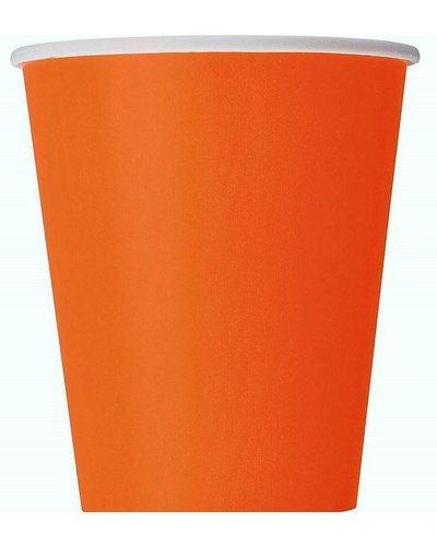 Magicoo 8 partybekers oranje- 266 ml