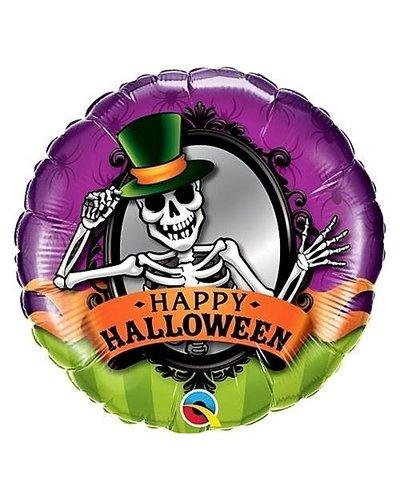 "Magicoo Halloween folieballon ""Skelet met hoed"""
