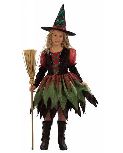 """Magicoo """"Bonte heks"""" heksenkostuum"""
