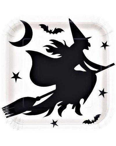 Magicoo 8 deluxe halloween partyborden zwart wit