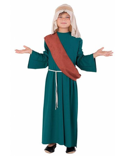 Magicoo deluxe jozef kostuum groen-bruin