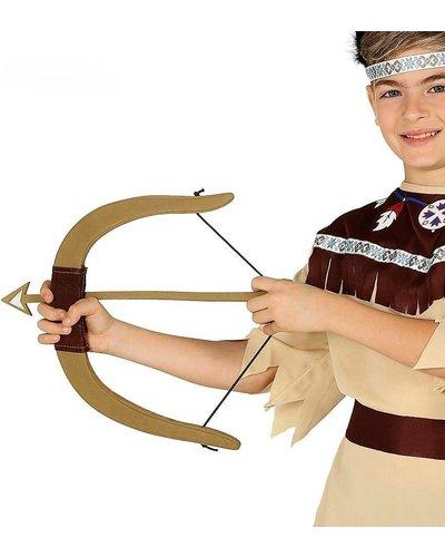 Magicoo Indianenparty pijl en boog met 3 pijlen gemaakt van schuimstof